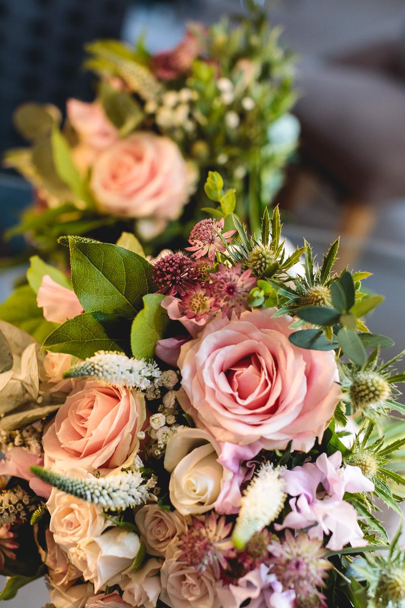 Stephanie Saunders Wedding flowers at Hyde Barn