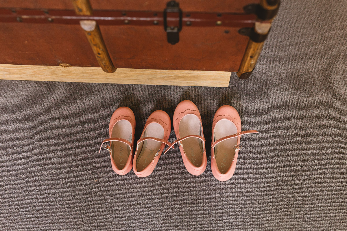 Flower Girl Shoes at Rustic Hyde Barn