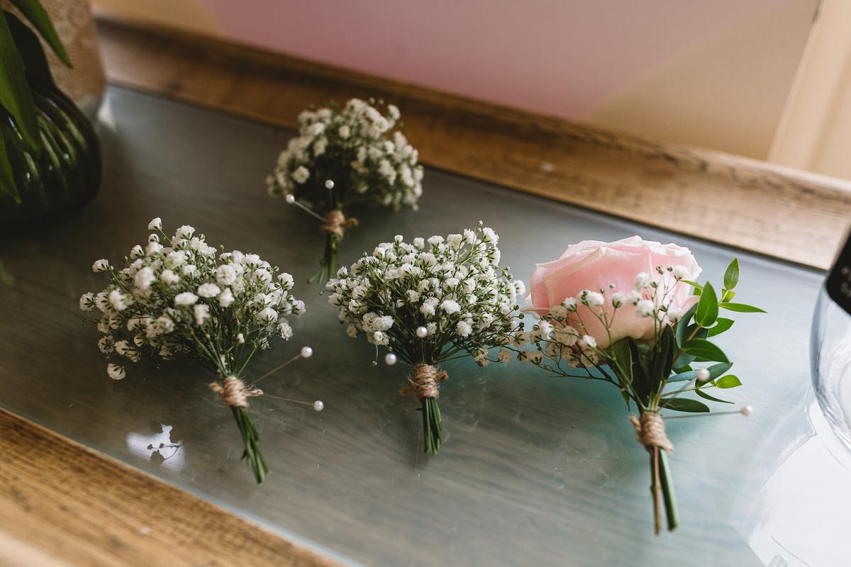 Hyde Barn Simple Wedding Buttonholes