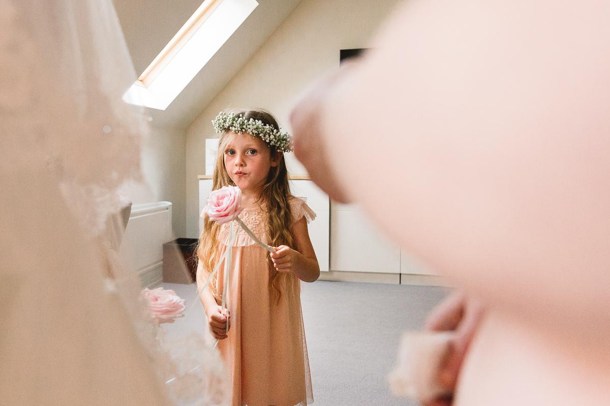 Flower Girl Ideas at Hyde Barn Wedding