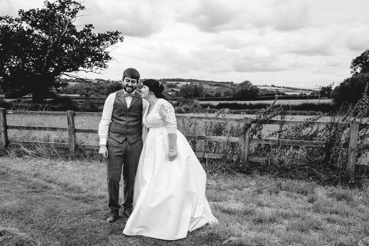 Fun couple photo at Hyde Barn Weddings