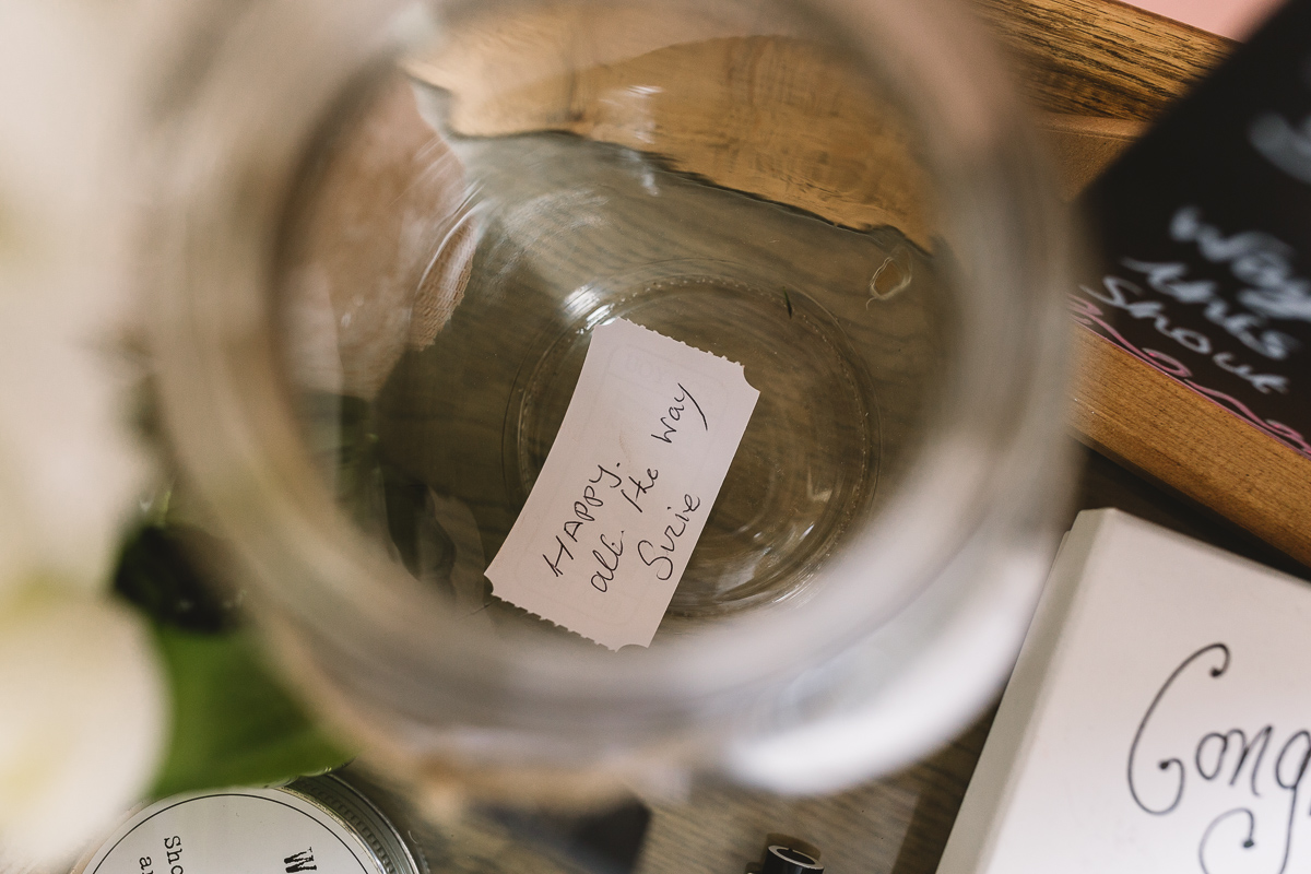 Wish Jar Wedding Details at DIY Hyde Barn Weddings