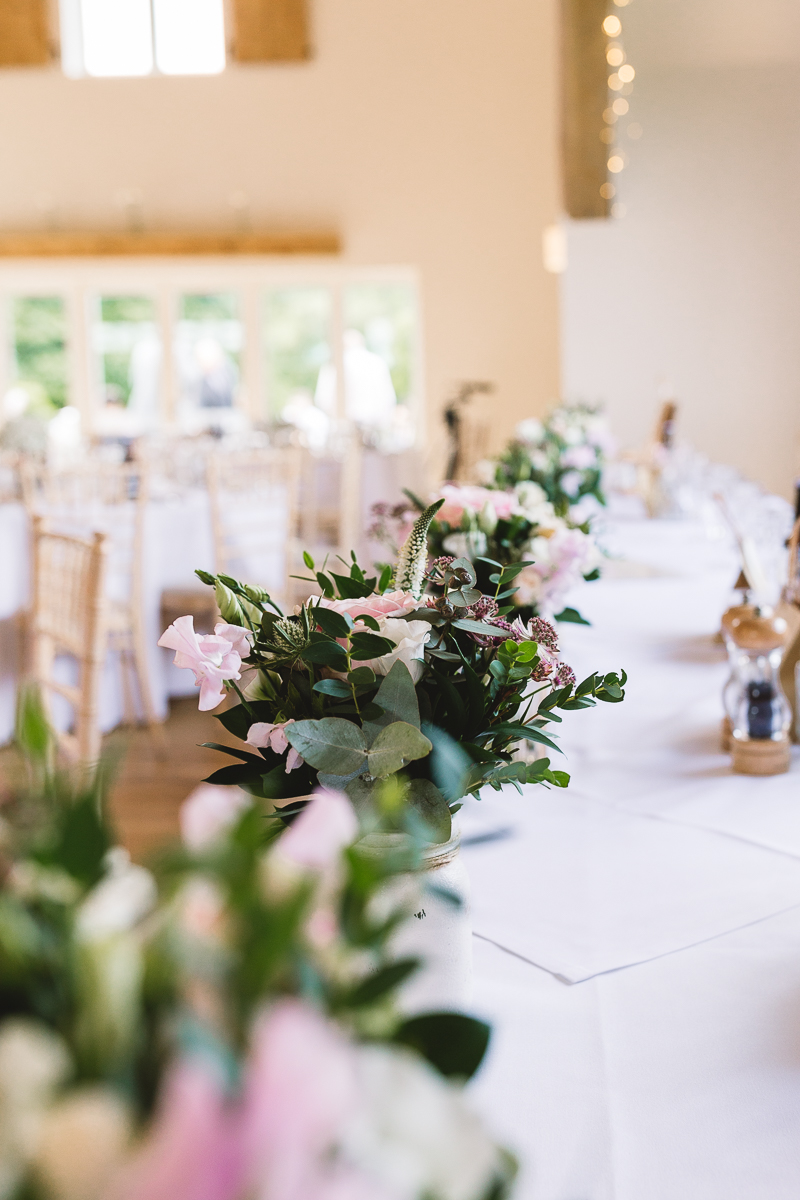Hyde Barn Weddings Photo of Fun Summer Wedding Flowers on Tables