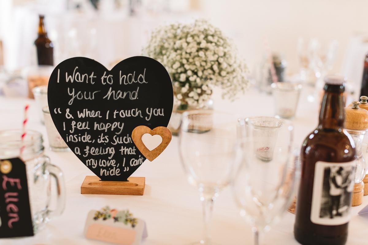Hyde Barn Weddings DIY Table Decor