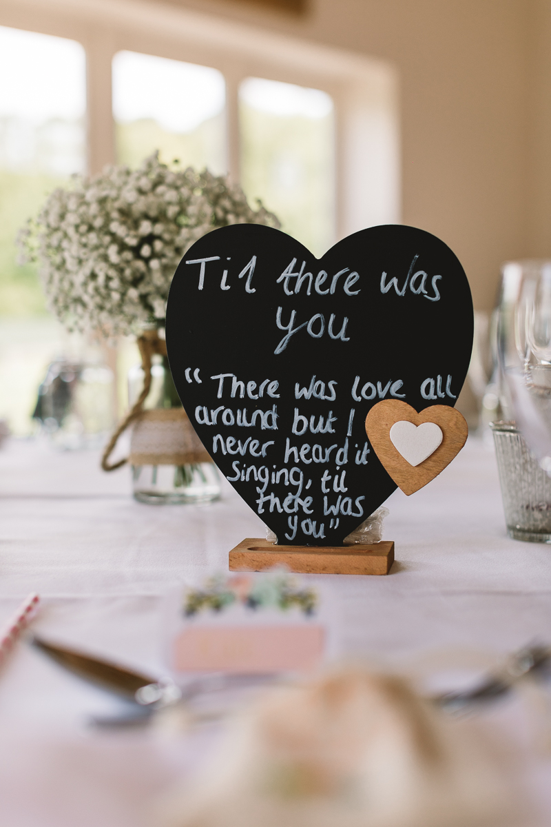 The Beatles table name on love heart chalk board - DIY Wedding Ideas