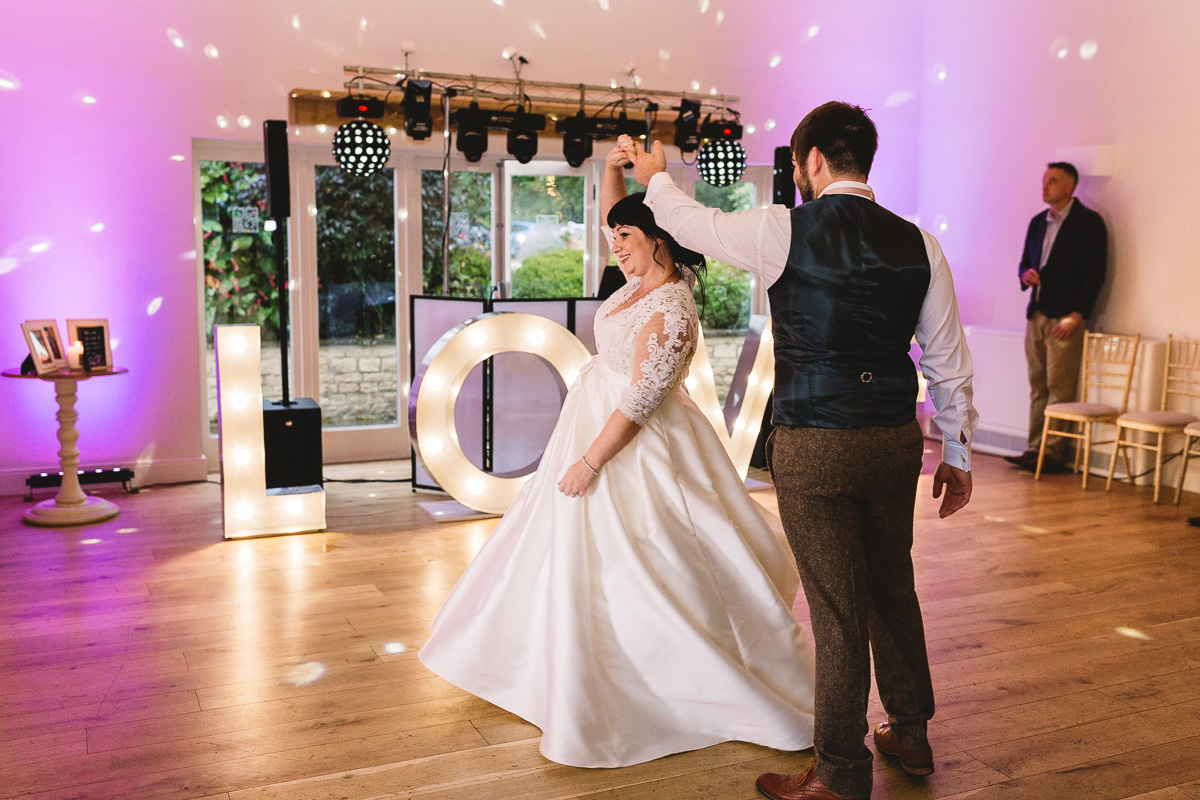 Fun first dance in the Cotswolds
