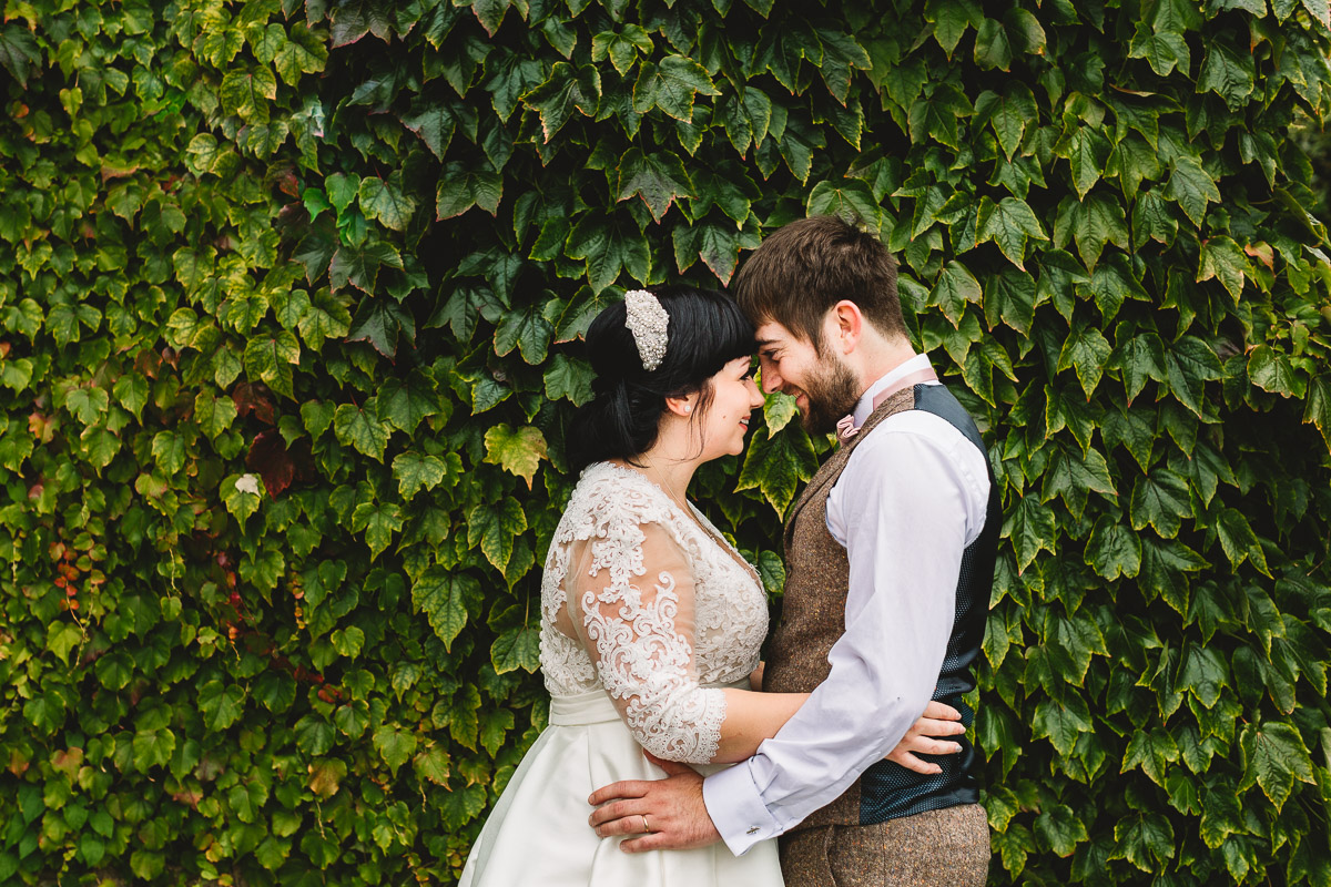 Natural couple portrait at Hyde Barn Weddings