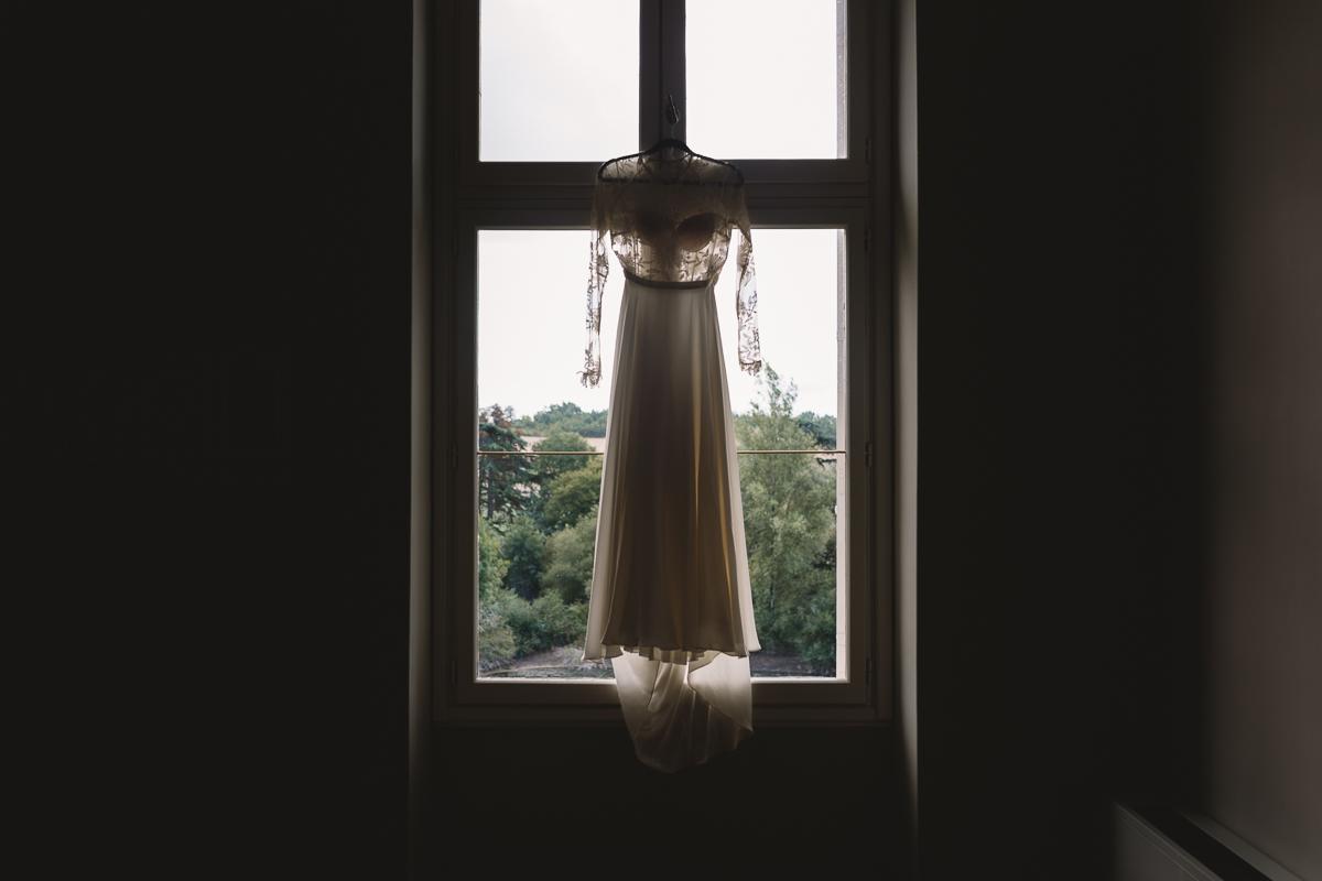 Boho Rue De Seine wedding dress at france destination wedding