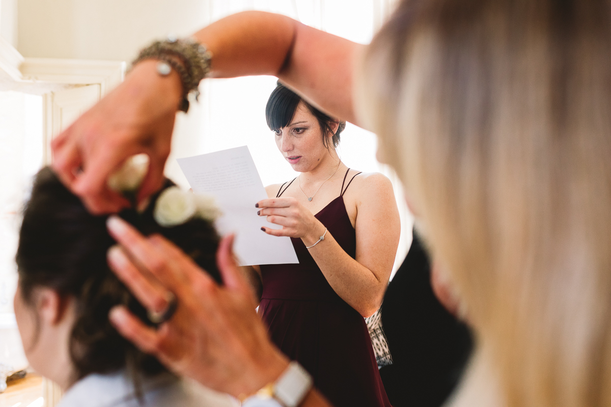 Documentary wedding photographer at chateau wedding in france