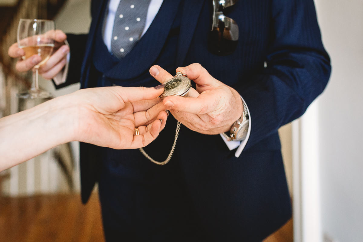 Pocketwatch groom gift ideas at destination wedding