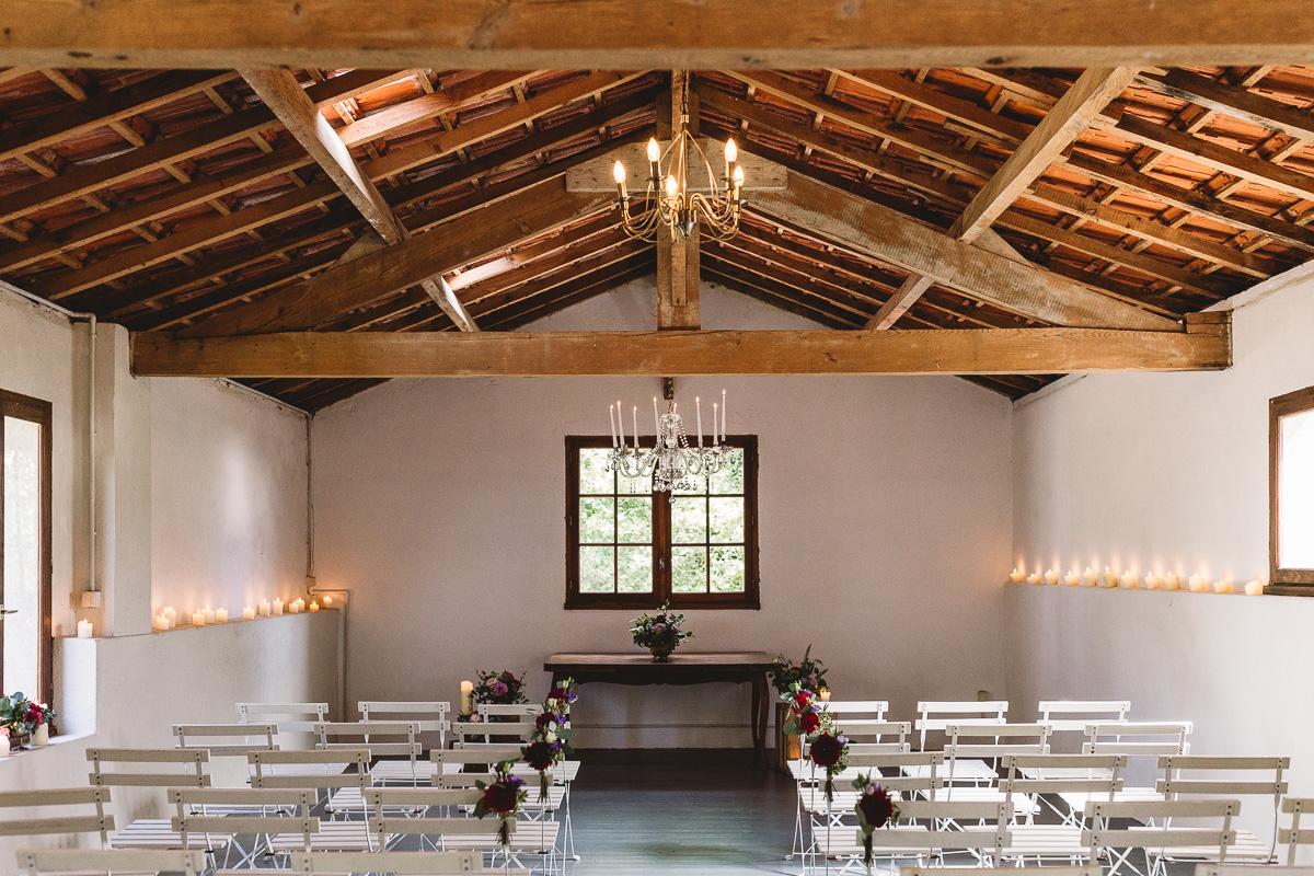 Rustic barn at france destination wedding