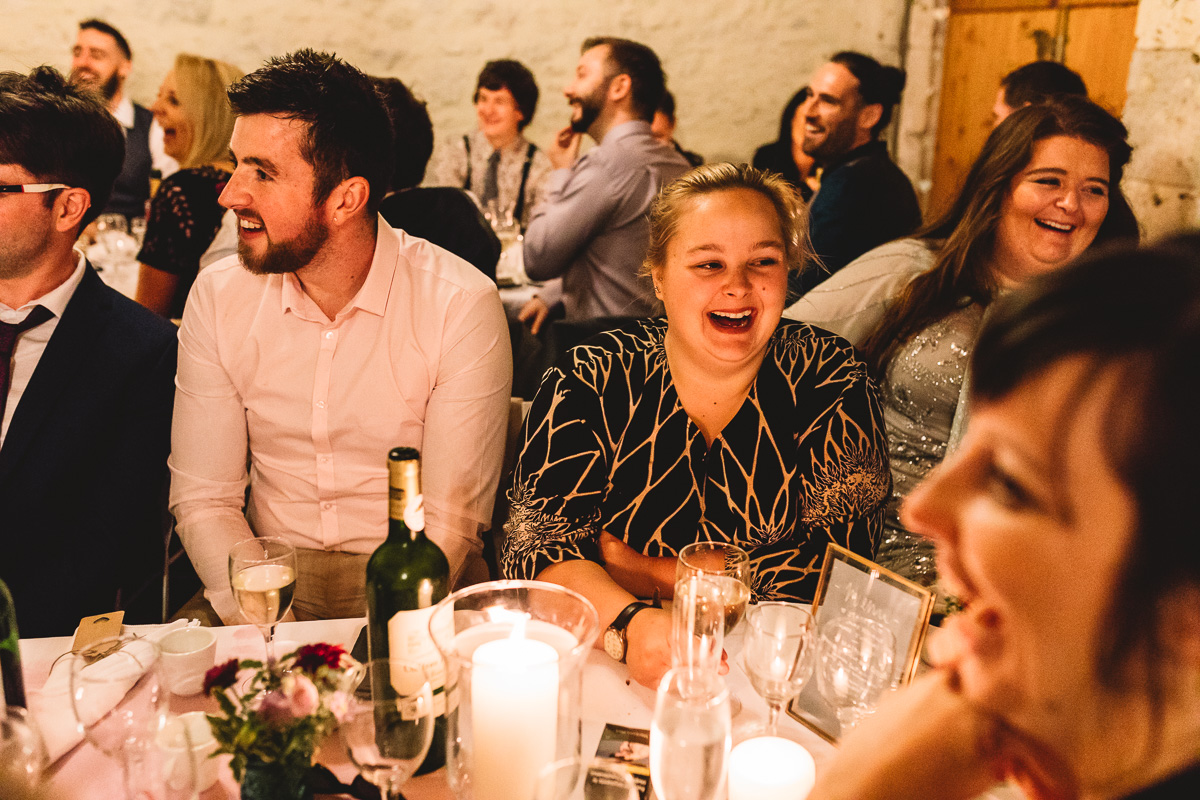 Fun speeches at destination wedding in France