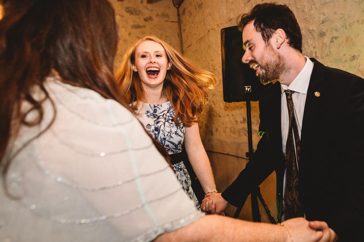 Fun dancing at france wedding