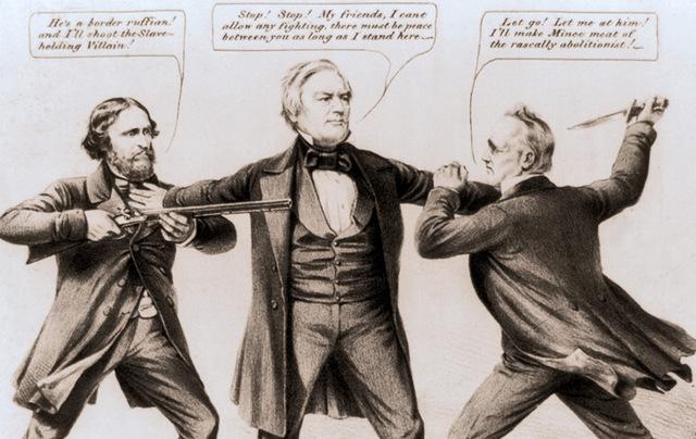 Millard Fillmore in 1856 political cartoon