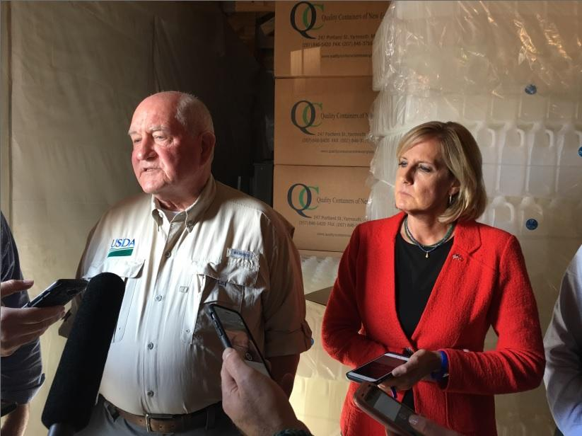 Sonny Perdue and Claudia Tenney (Tom Magnarelli/WRVO)