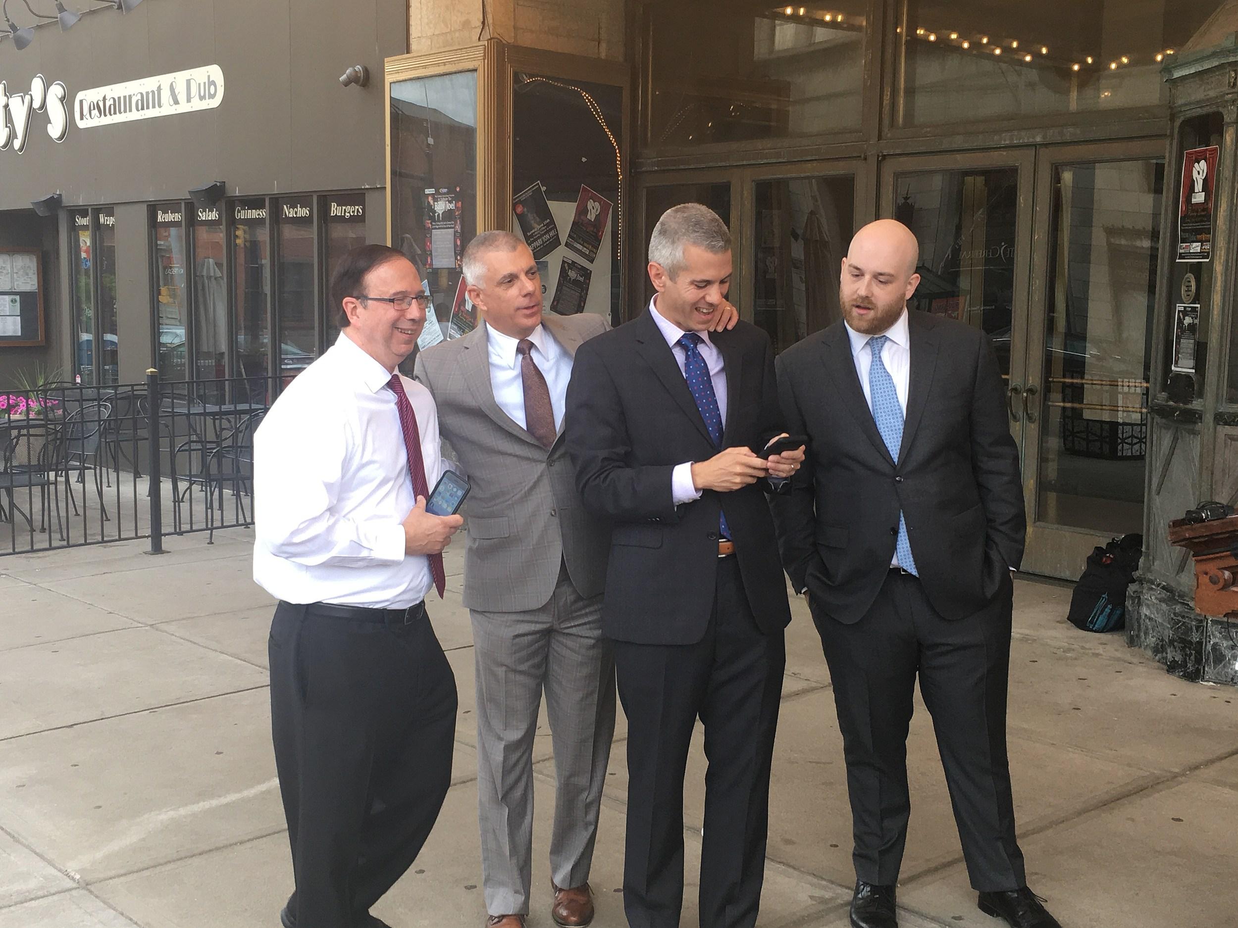Photo includes NY Senator Joe Griffo & Executive Anthony Picente (Andrew Derminio/WIBX)