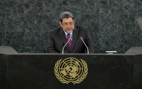 Saint Vincent and Grenadines' Prime Minister Ralph Gonsalves (Mary Altaffer/Getty)