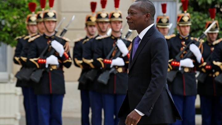 Photo of Benin's President Patrice Talon by Benoit Tessier (Reuters)