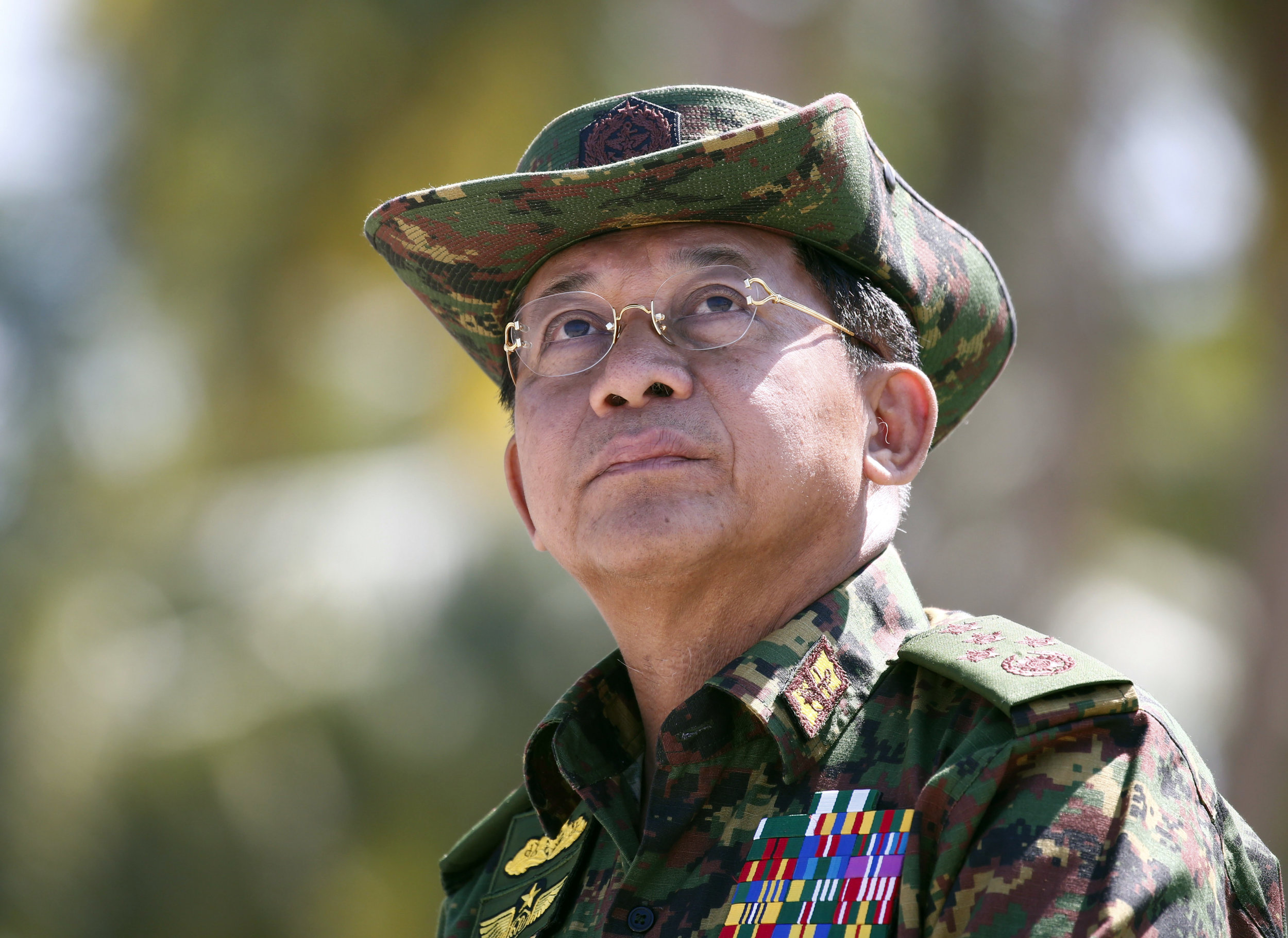 Photo of Myanamar General Min Aung Hlaing  By Lin Bo Bo/AP