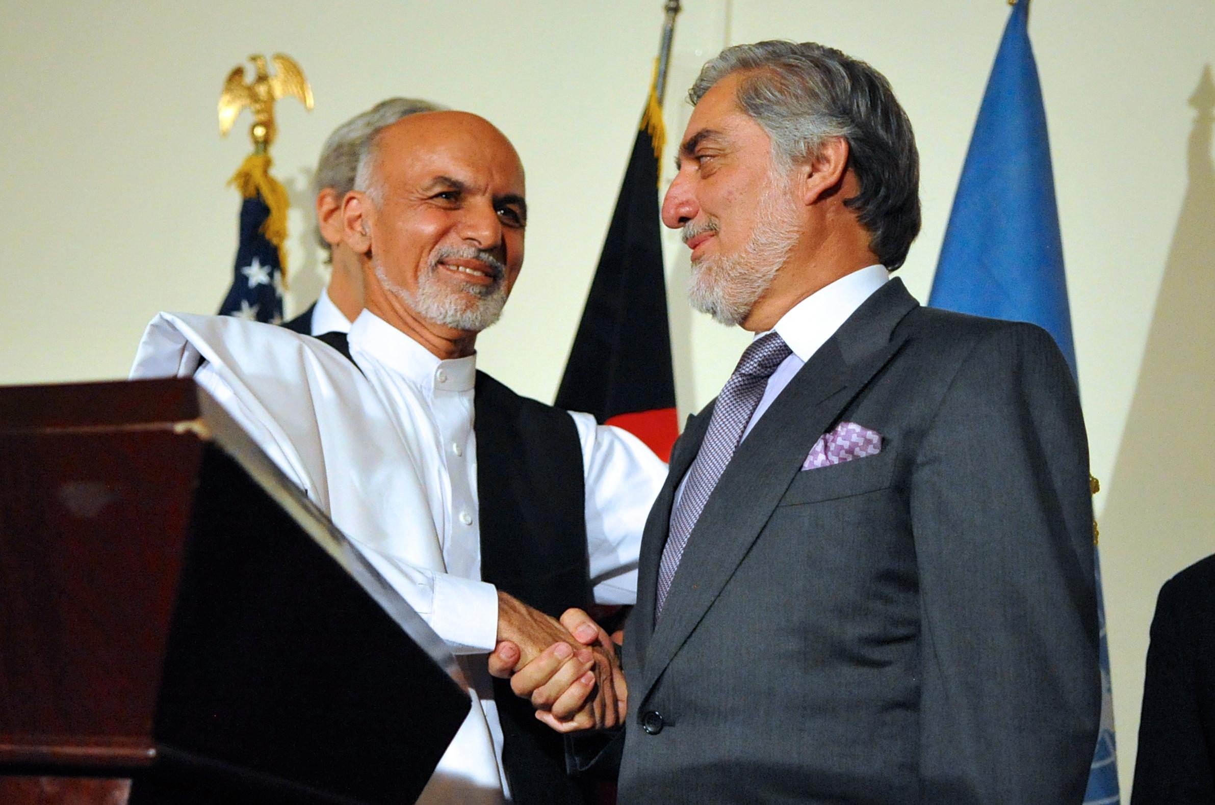Ashraf Ghani & Abdullah Abdullah (U.S. State Dept.)