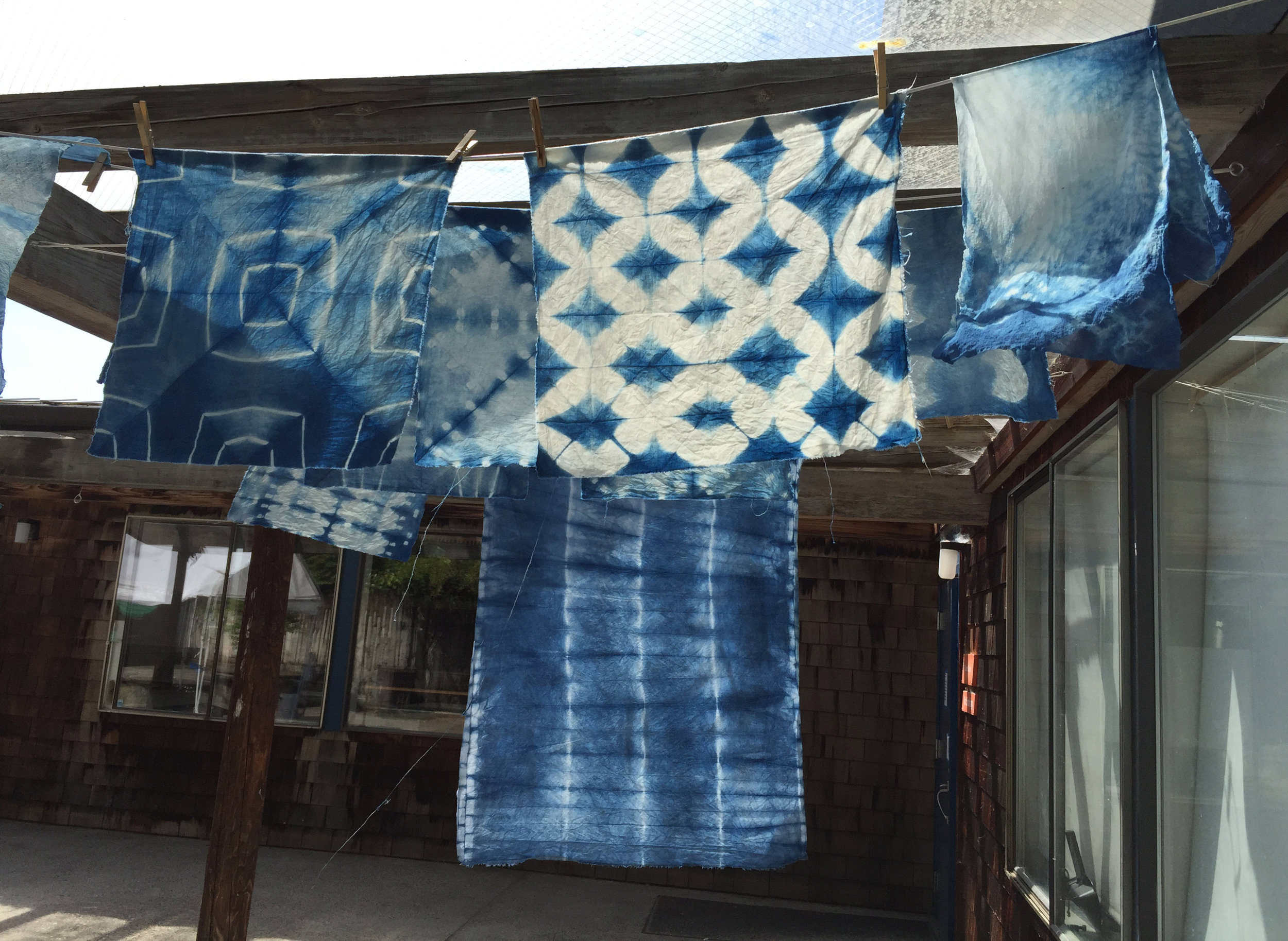 Prairie Mountain Folk School -Shibori Picnic: Dyeing & Tying a Furoshki