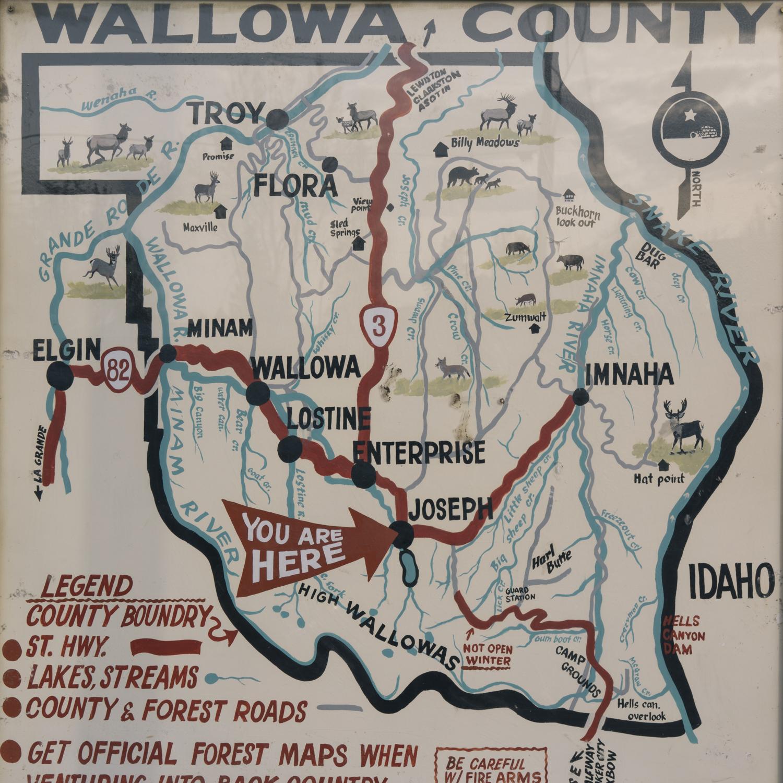 Prairie Mountain Country - Wallowa County Map