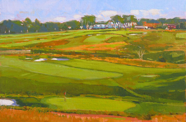 "'From The Fourth Tee' Oakmont 12""x18"" $4000.00"