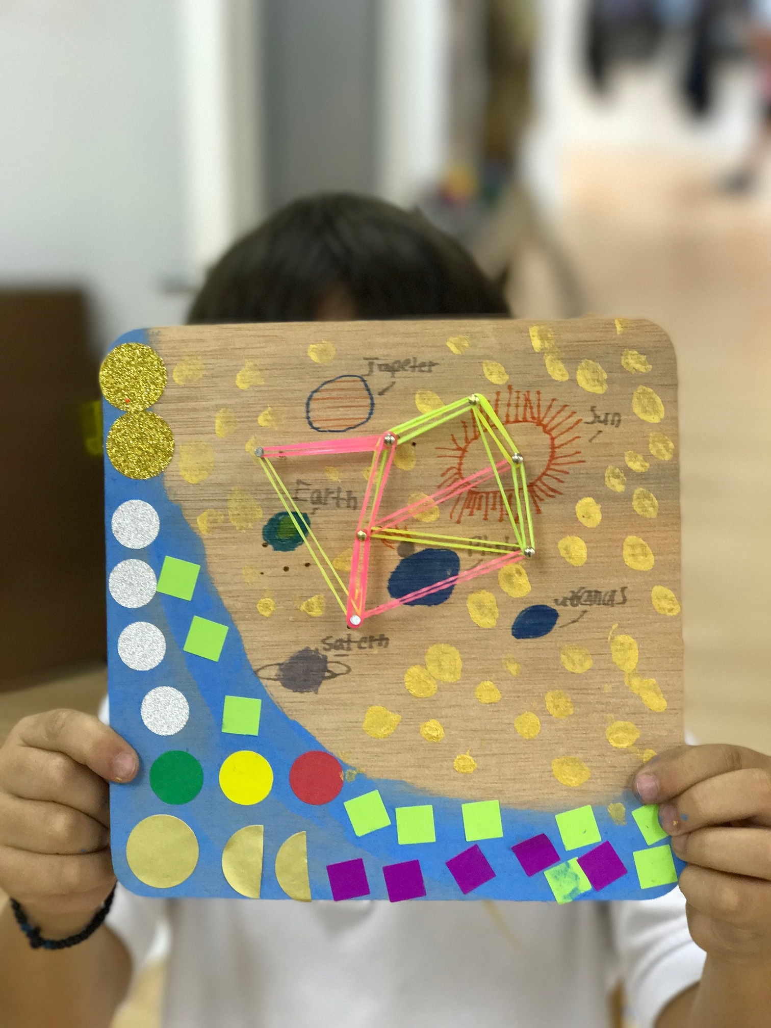 Mateo and his Space Geo-board