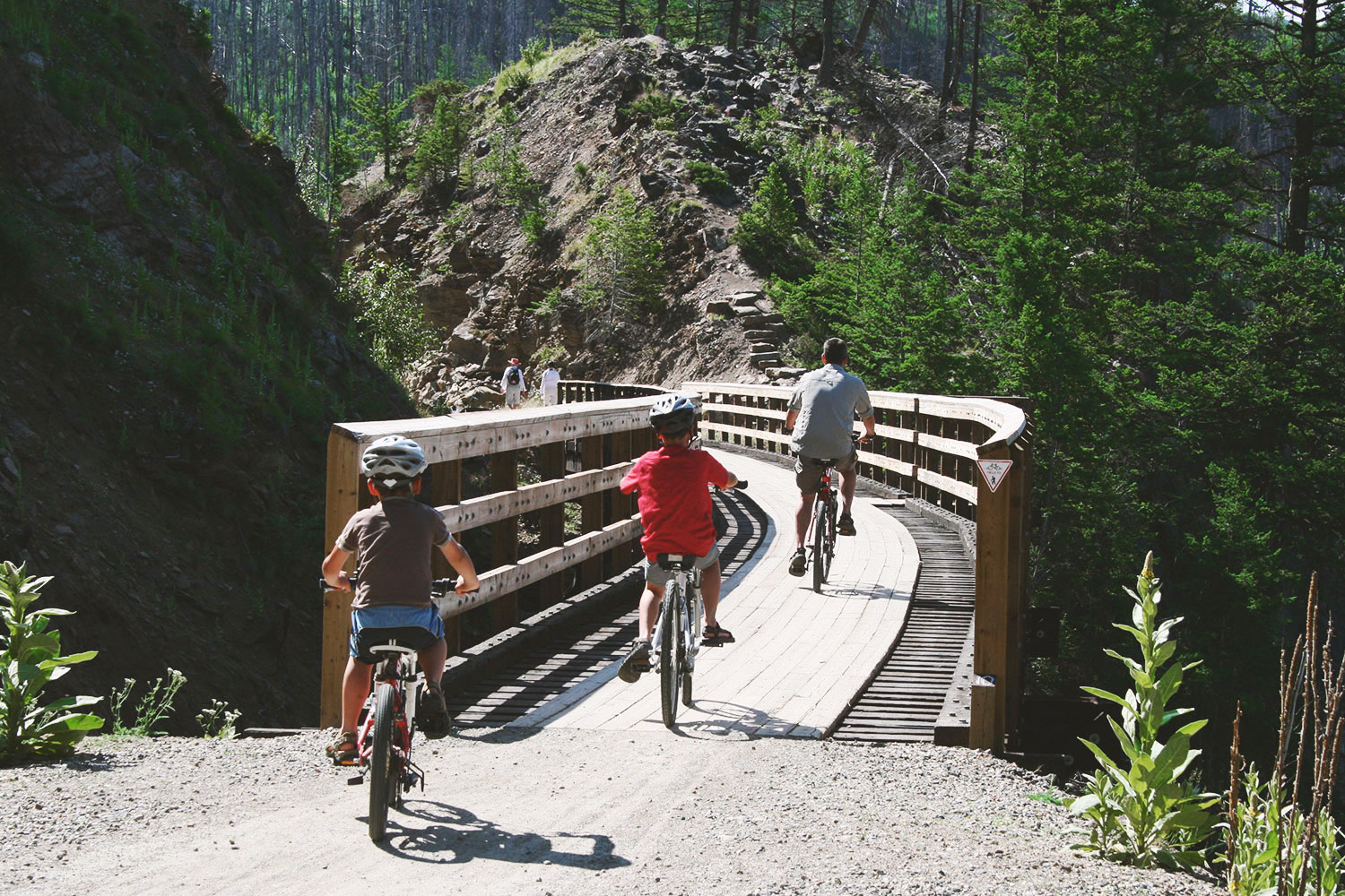 Cycle the Myra Canyon train trestle trail -
