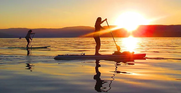 SUP a section of the Kelowna Paddle Trail -