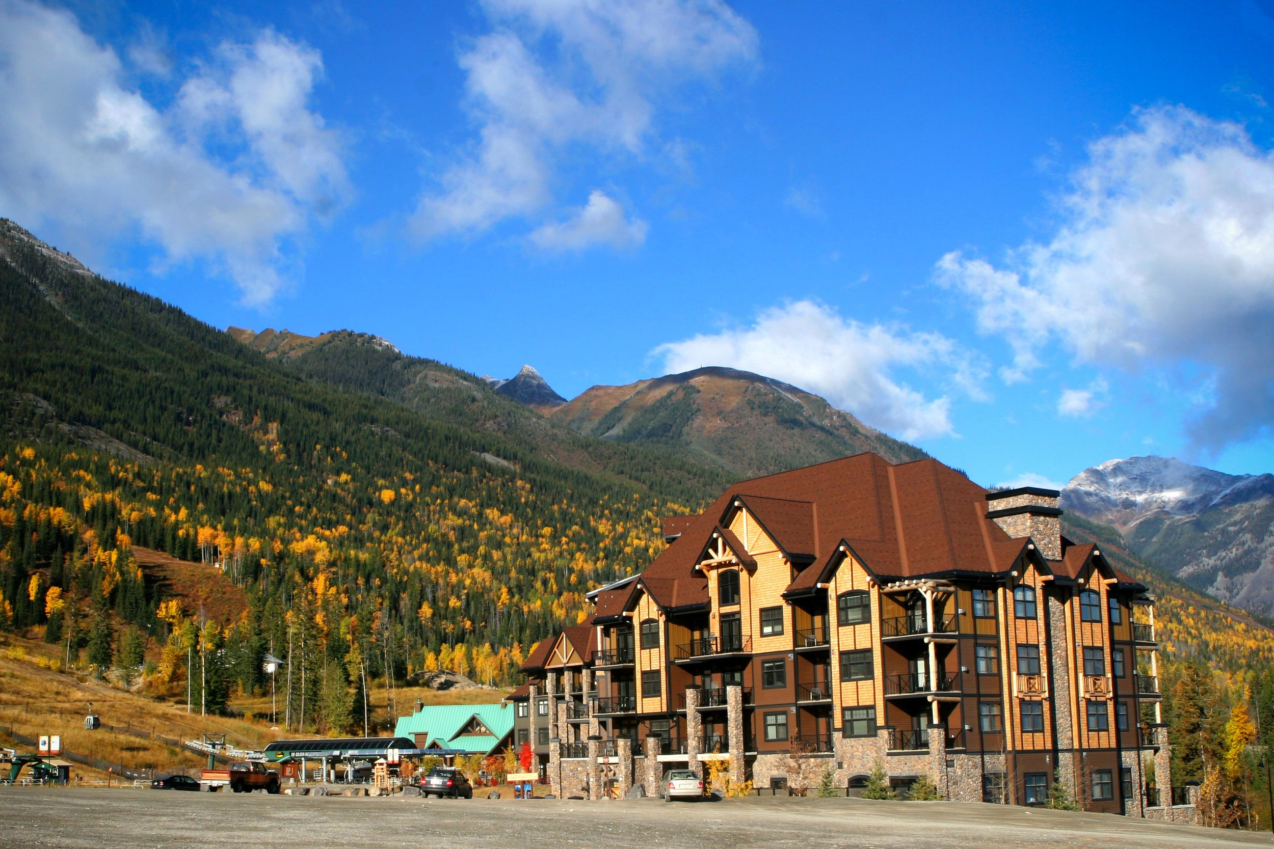 Check in to a fully-equipped suite right in Kicking Horse village -