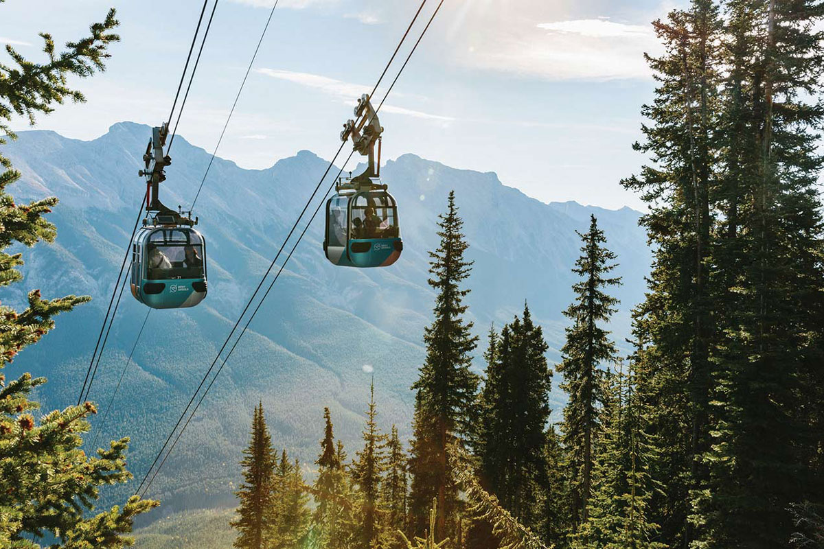 Ride the Banff Gondola to the top of Sulphur Mountain -
