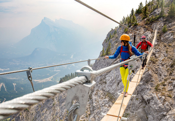 Tackle the Via Feratta at Mt. Norquay Ski Resort -