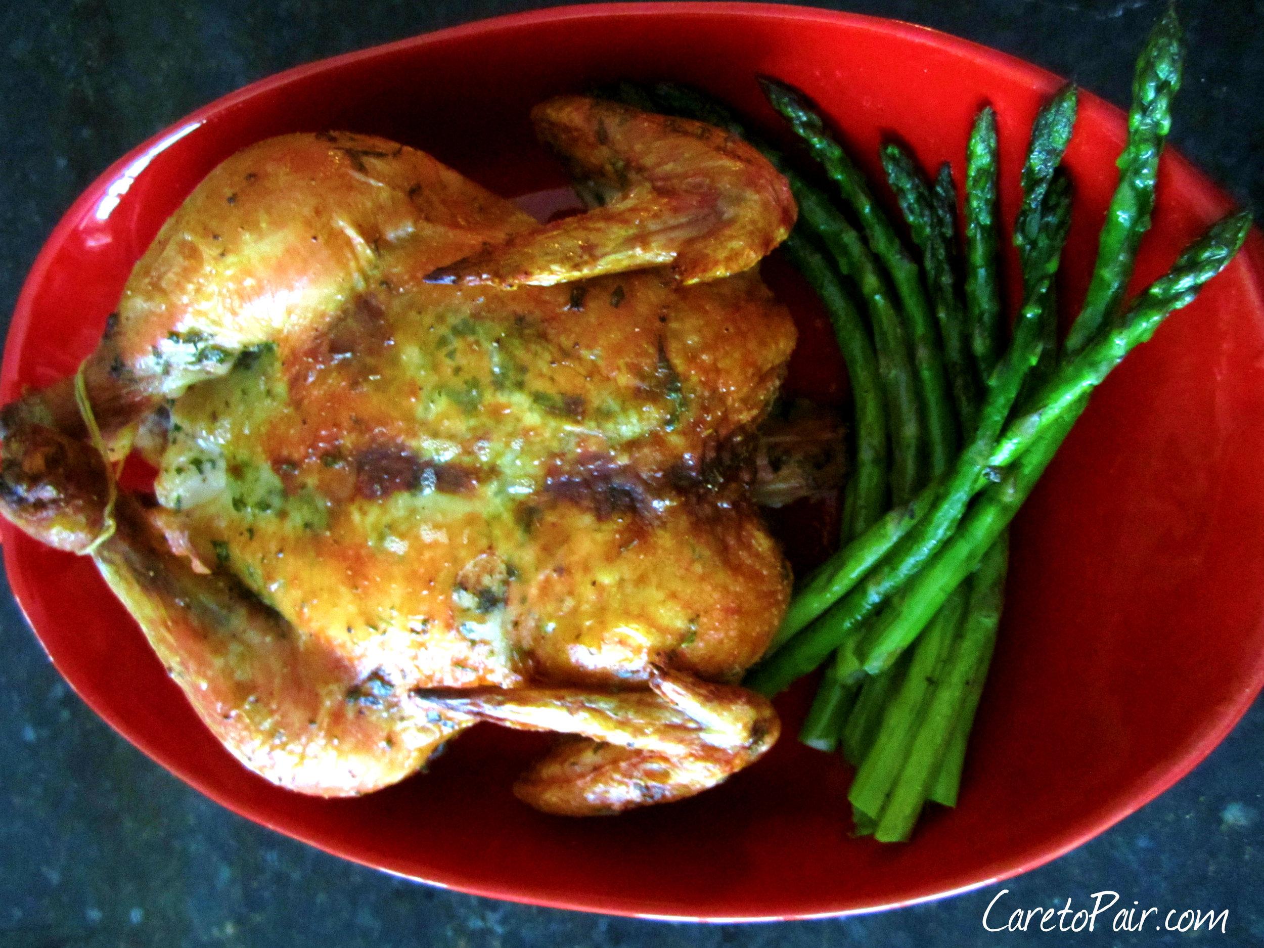 Roasted Chicken from CaretoPair Blog