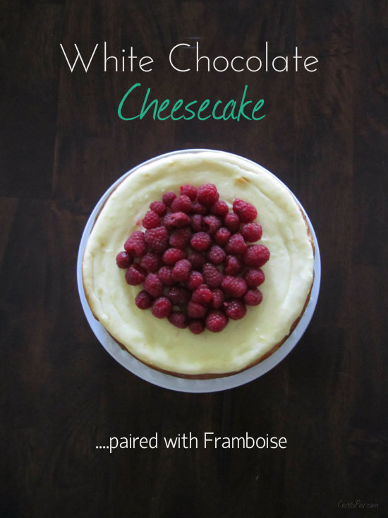 White Chocolate Cheesecake and Framboise on CaretoPair.com
