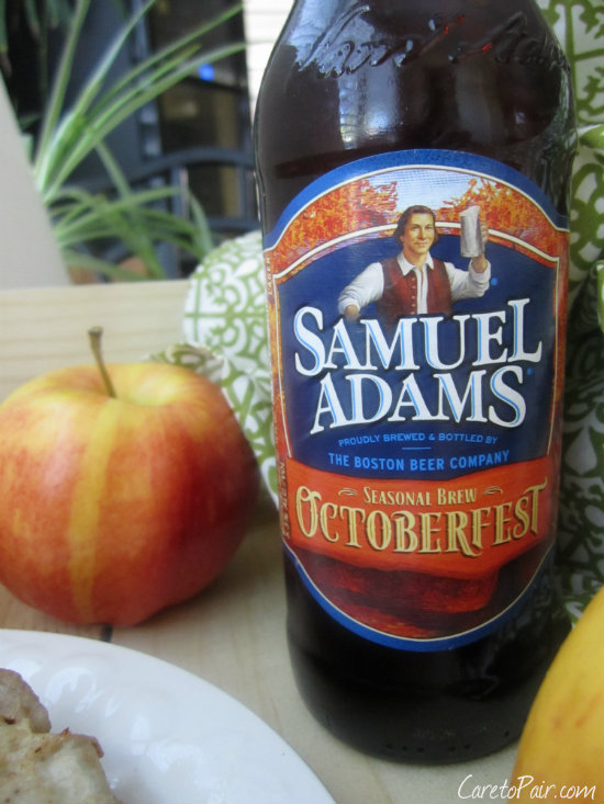 Sam Adams Oktoberfest Paired with Pork Chops
