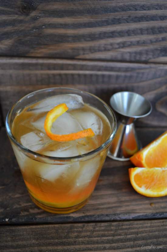 Mexican Old Fashioned using Tequila and Mezcal |CaretoPair.com