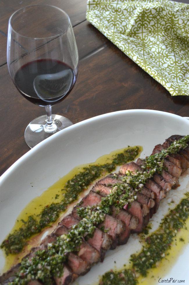 Wine Pairing Chimichurri Steak | CaretoPair.com