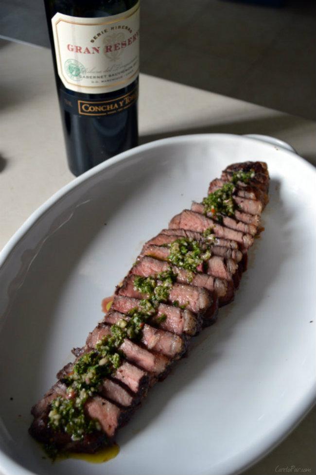 What wine to pair with chimichurri steak | CaretoPair.com