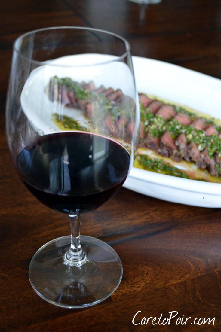 Chimichurri Steak Wine Pairing | CaretoPair.com