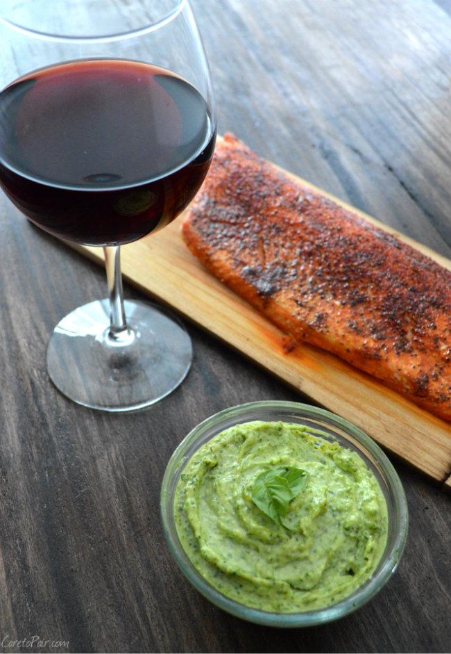 Cedar Plank Salmon Wine Pairing | CaretoPair.com Salmon Wine Pairing