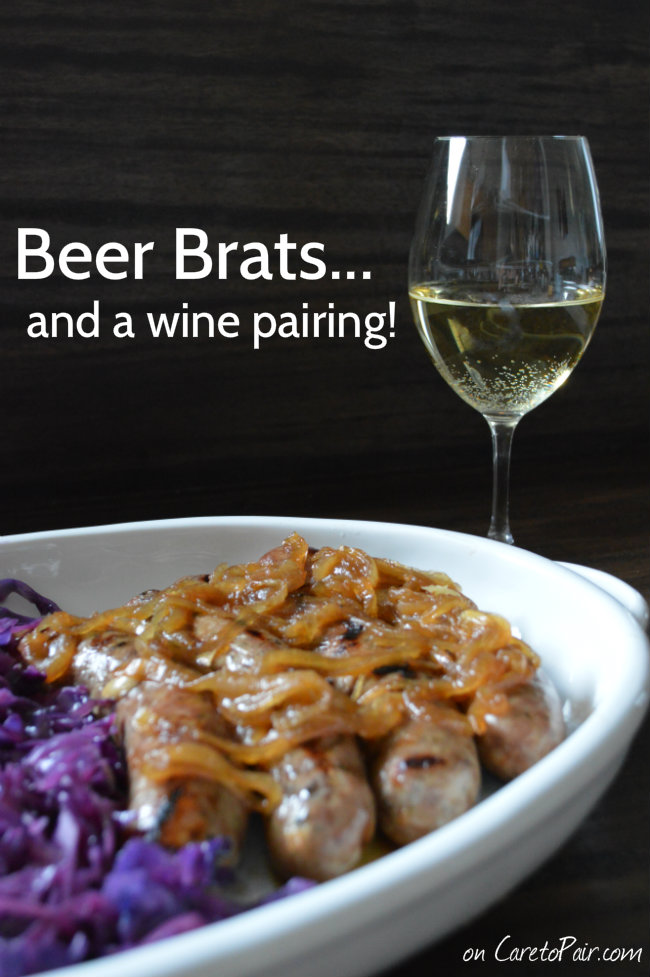 Beer Brats with Smothered Onions Wine Pairing | CaretoPair.com