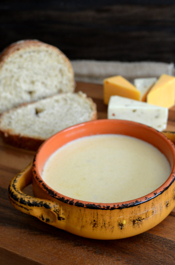 Favorite Beer Cheese Soup Using 3 Types of Cheese, Paired Perfectly for Fall With A German Oktoberfest | CaretoPair.com