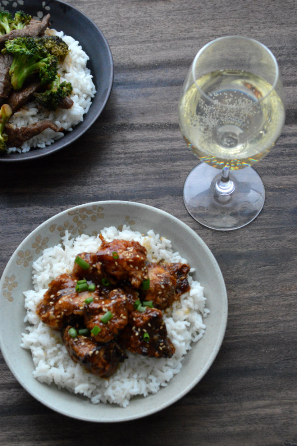 Chinese Food and a Wine Pairing. Make it a Date Night In with a nice glass of Riesling and Chinese Take Out! | CaretoPair.com