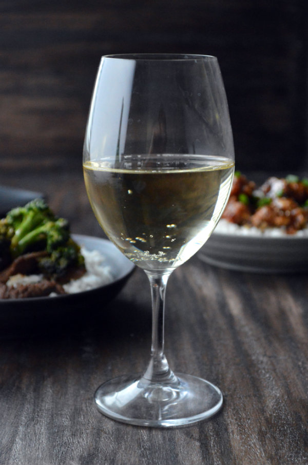 Riesling Paired with Chinese Take-Out. This is the best wine to pair with your favorite Orange Chicken, Beef and Brocolli, or any other Chinese Take-Out dishes! | CaretoPair.com