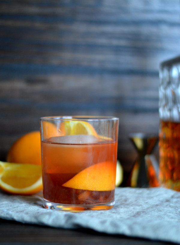 The Old Fashioned Cocktail: Bourbon, Orange, Maraschino, and Simple Syrup | CaretoPair.com