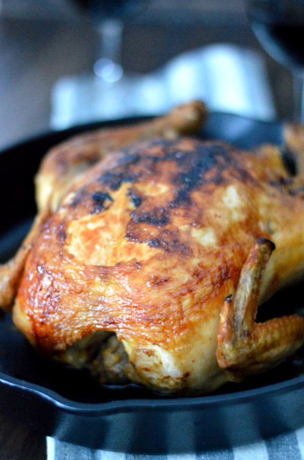 Roasted Chicken is one of the easiest meals to make, honest! I don't know why people waste their money on overpriced rotisserie chickens when you can get much more meat with your money on a raw one