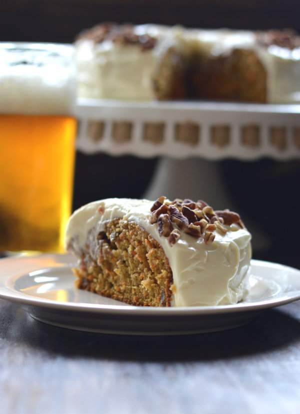 This Carrot Cake Beer Pairing is a classic! Who would have thought IPA goes perfectly with Carrot Cake? It does!