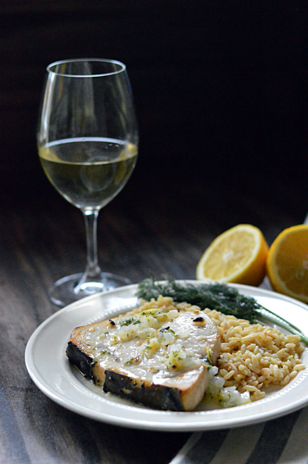 What Wine to Pair with Broiled Swordfish with Lemon-Butter Sauce. Via CaretoPair.com