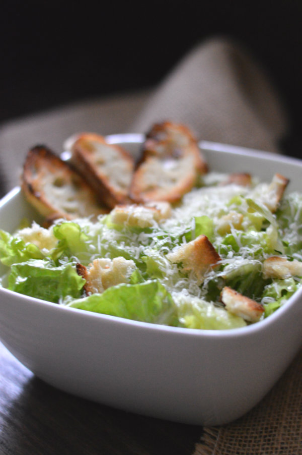 quick, easy, and authentic homemade caesar salad and beer pairing with German Helles Lager. Amazing!